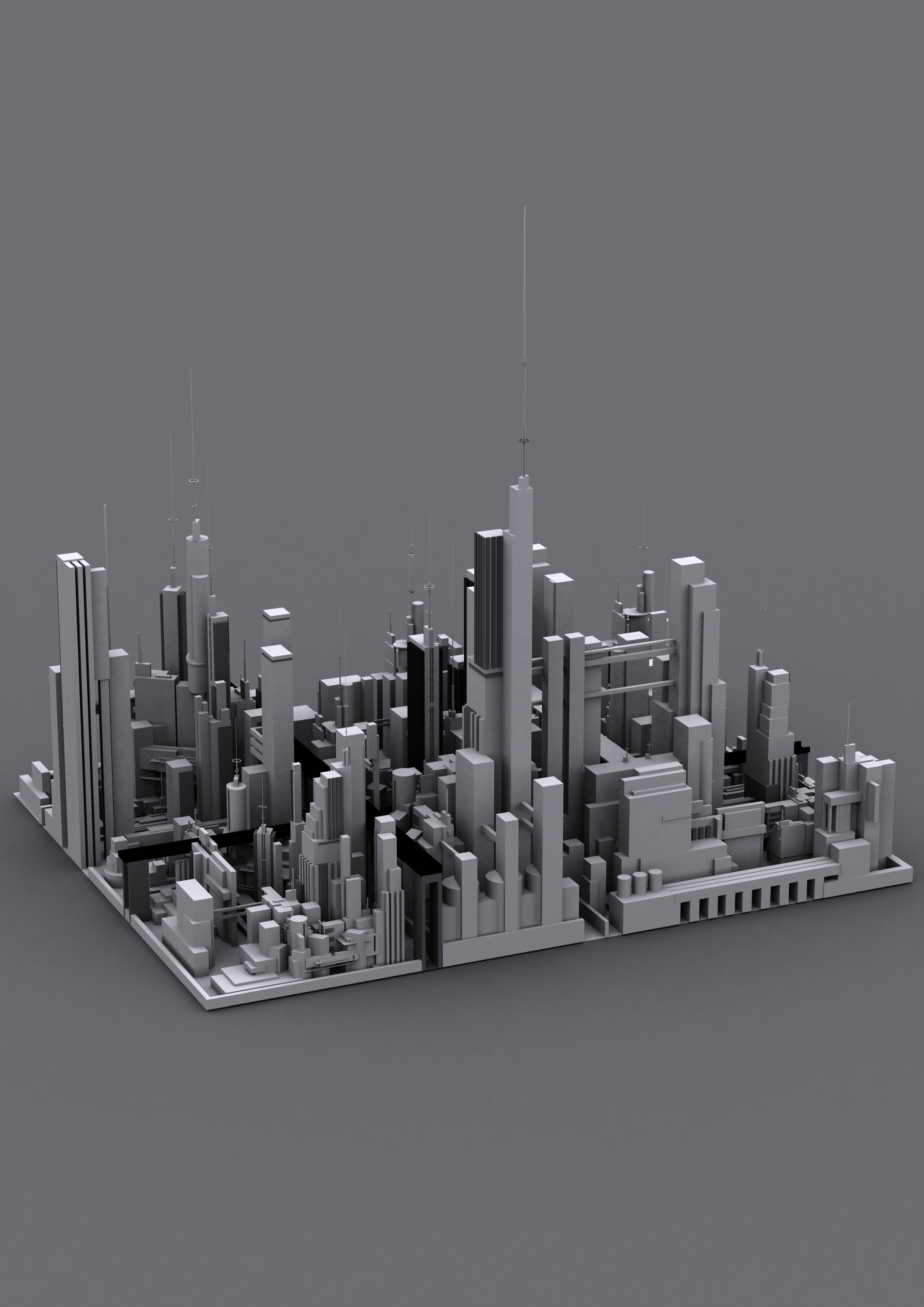 how to make a city model in 3d